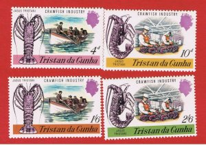 Tristan da Cunha #137-140  MNH OG  Lobsters  Free S/H
