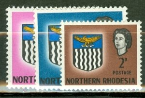 BX: Northern Rhodesia 75, 77-88 mint CV $60.80; scan shows only a few