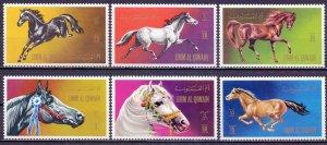 Umm al quwain. 1972. 496A-501A. Horses. MNH.