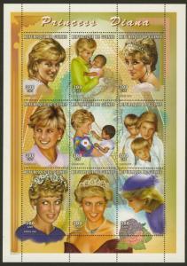 Guinea MI 2213-21 sheet MNH Famous People, Pope John Paul II, Scouts, Space