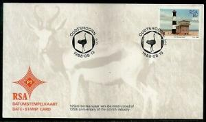 South Africa 1988 Ostrich Industry Anni. Birds Lighthouse Date Stamp Card #16530