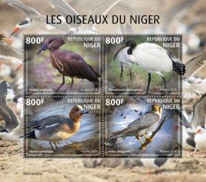 NIGER - 2019 - Birds of Niger - Perf 4v Sheet - MNH