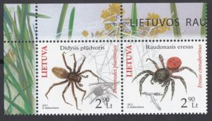 2012 Lithuania 1100-1101Paar Insects 4,40 €