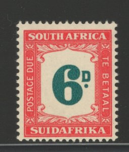 South Africa 1949 Postage Due 6p Scott # J38 MNH