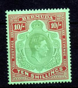 Bermuda KGVI 1938 10/- MNH Perf 14 WS13909