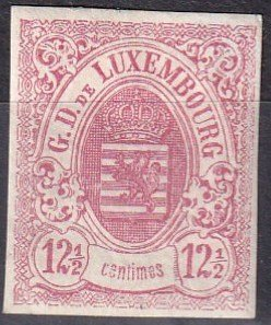 Luxembourg #8 Unused  CV $275.00  Z1131
