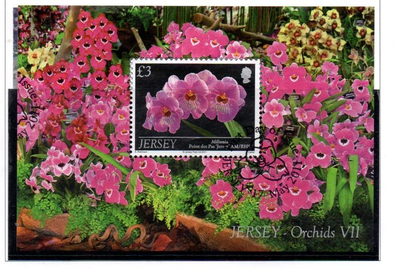 Jersey Sc 1513 2011  Orchids stamp sheet used