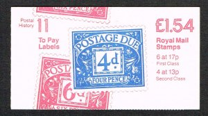Great Britain Booklet SG FQ1B
