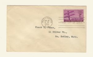 US -1944 Scott 924 FDC 3c Centenary of Telegraph (Washington Cancel)