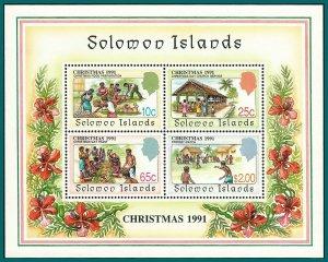 Solomon Islands 1991 Christmas, MS MNH #702a,SGMS707