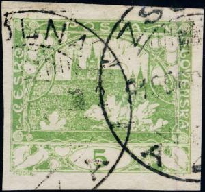 TCHECOSLOVAQUIE / CZECHOSLOVAKIA 1919 ZSOLNA A1A (ŽILINA - V.982-1) /Mi.2b