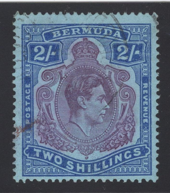 Bermuda #123a - 2 Shilling - Ultra & Violet on Blue - Used
