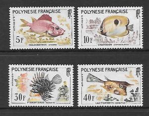 French Polynesia Scott #199-202  Mint NH Scott CV $40.00
