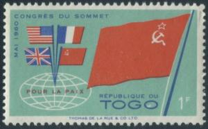 Togo 383 MLH Flags of big four (GI0120)