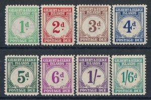 GILBERT & ELLICE ISLANDS 1940 Postage Due set 1d-1/6. MNH **.