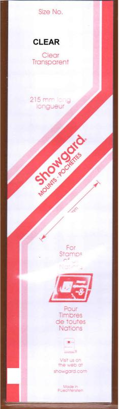 Showgard CLEAR Strip Mounts Size 24 = 24mm Fresh New Stock Unopened