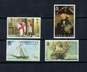 Gibraltar: 2005 Bicentenary of the Battle of Trafalgar, MNH set