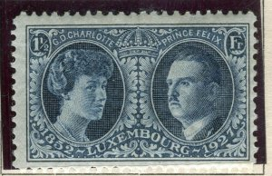 LUXEMBOURG; 1927 early Philatelic Expo issue fine Mint hinged 1.5Fr. value