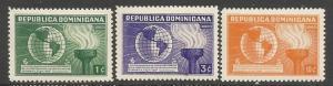Dominican Republic 332-34 MOG US CONSTITUTION Z3249-2