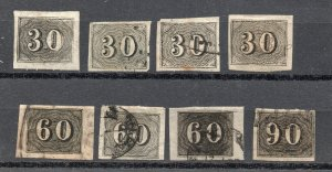 Brazil - Sc# 23 - 25 Used/ Group of (8) / Attractive - Lot 0619053