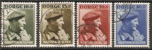 1946 Norway Scott B43-B46 Crown Prince Olav used