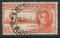 Northern Rhodesia  SG 46a SC# 46a Used  perf 13½ see detail / scan