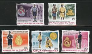 Papua New Guinea, PNG  Scott 486-490 MNH** 1978 set