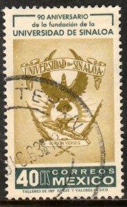 MEXICO 941, 90th Anniversary of the University of Sinaloa USED. VF. (1200)