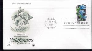 1992 Columbus Ohio Wildflowers of America Harebell ArtCraft First Day Cover