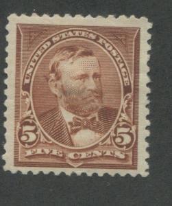 1894 US Stamp #255 5c Mint Hinged Very Fine Original Gum Catalogue Value $165