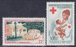 Cameroun, Scott #413-414; Red Cross Issues, MLH