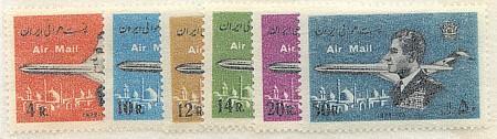 Iran - 1974 Shah & Jet #C91-C96 Mint VF-NH Complete - 2015 Cat. $18.