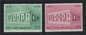 San Marino Europa CEPT 2v issue 1969 SG#862-863