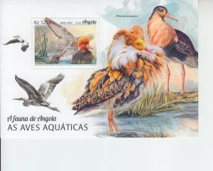 2018 Angola Water Birds SS (Scott NA) MNH