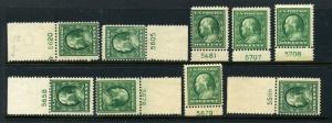 Scott #374 & 375 Mint Plate # Lot  (Stock #374-1)