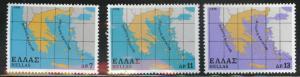 GREECE Scott 1285-1287 MNH** 1978 map set