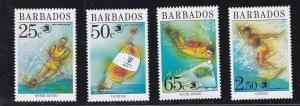 Barbados # 769-772, Water Sports, NH, 1/2 Cat.