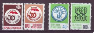 J21087 Jlstamps 1978 & 9 indonesia sets mh #1029-30, 1060-2 designs