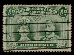 RHODESIA SG182, ½d yellow-green, USED. Cat £50.