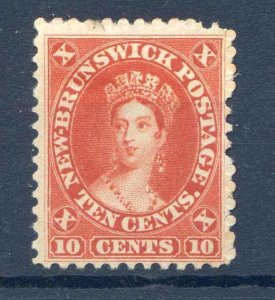 New Brunswick 10c Red SG17 mounted Mint