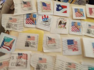 USA America flag stamp lot collection flags