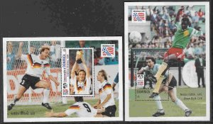 Dominica #1611-12 s/sheets F-VF Mint NH ** World Cup Soccer