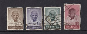 INDIA 1948 GHANDI GEORGE 6TH CROWN ALBUM PAGE USED TO 10 RUPEE'S (12A'S THINNED)