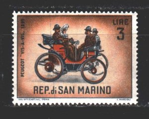 San Marino. 1962. 706 from the series. Antique car. MNH.