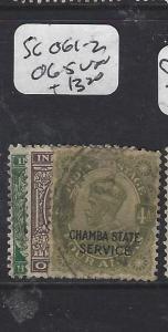 INDIA  CHAMBA   (PP0707B)  KGV   SG  O61-2, 65   VFU