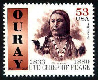 Chief Ouray ~ Ute Chief of Peace  -  Cinderella - MNH