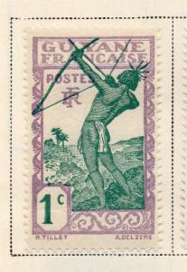 French Guiana 1929 Early Issue Fine Mint Hinged 1c. 145580