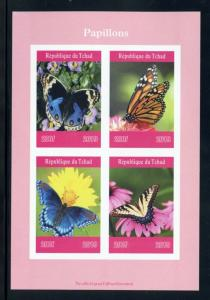 CHAD 2019 BUTTERFLIES  SHEET IMPERFORATE   MINT NEVER HINGED