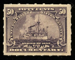 B274 U.S. Revenue Scott R171 50-cent Battleship mint never hinged
