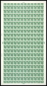 Sg XS22 1/3 Scotland on Cream paper Cyl 4 No Dot Full Sheet UNMOUNTED MINT